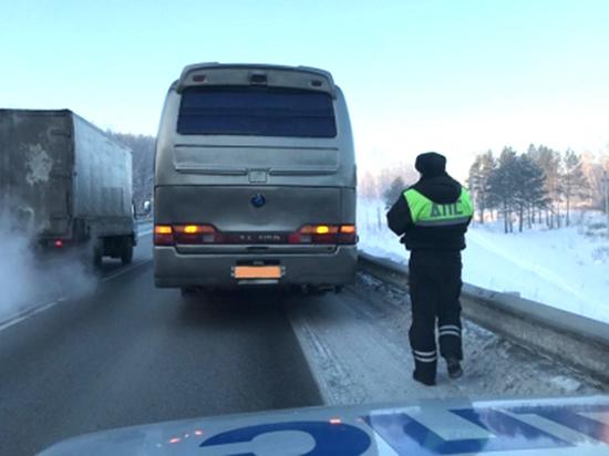 На трассе под Кемерово сломался междугородний автобус с пассажирами