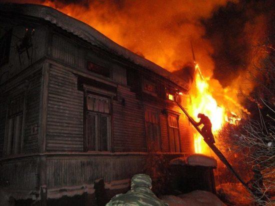 На пожаре в Карсунском районе пострадали люди