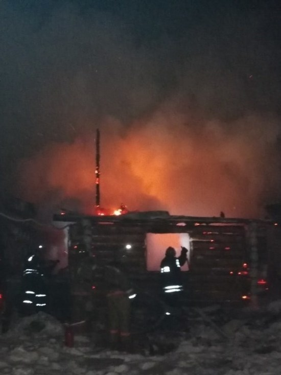 Баня дотла сгорела под Калугой