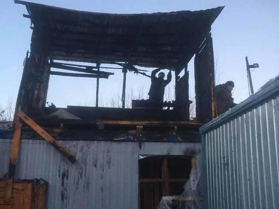 Пожар произошел в приюте для животных в Калуге