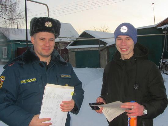 В новогодние каникулы спасатели Мордовии не забыли о профилактике