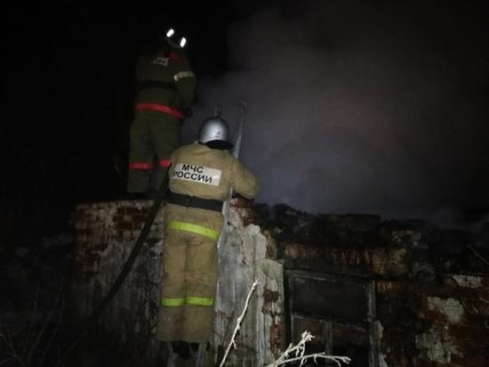 В пожаре под Тулой пострадал человек