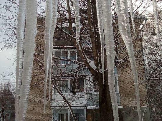 Власти Калуги пожалуются в прокуратуру на УК, не сбивающие сосульки