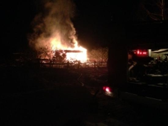 В Тверской области из-за неосторожности сгорел дачный дом