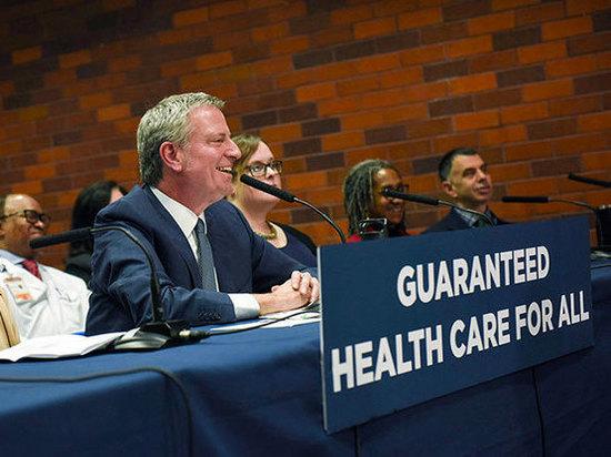 Мэр Де Блазио обещает всем жителям Нью-Йорка доступ к здравоохранению