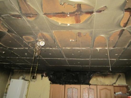 В Холм-Жирковском из-за неисправности проводки горела кухня