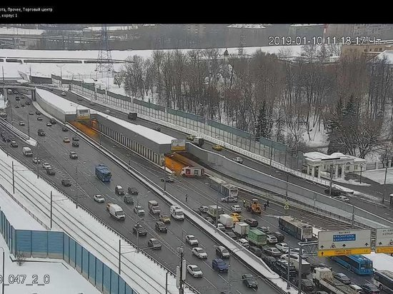 Опубликовано видео затопления Тушинского тоннеля на Волоколамском шоссе