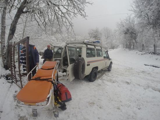 Медикам помогли добраться  к пациенту в горное село на Кубани