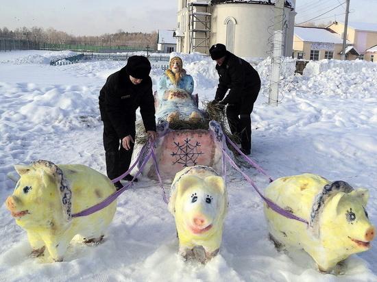 В Дубравлаге Мордовии проходит конкурс снежных скульптур