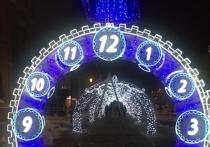 Новогодняя иллюминация в Липецке будет работать до конца января