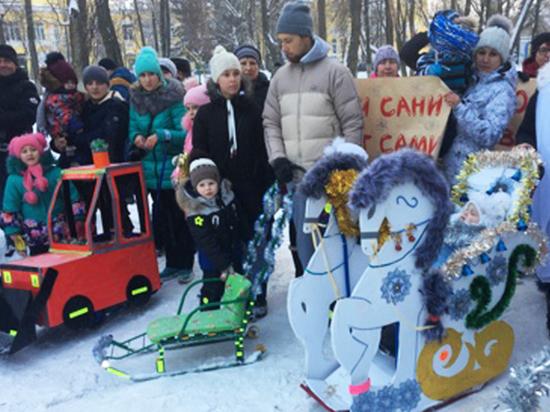 В Ивановской области ГИБДД провело конкурс на самые безопасные детские санки