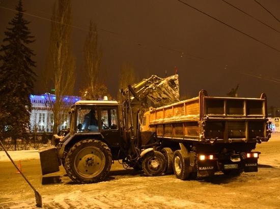 С прошедшим снегопадом в Тамбове боролись более 50 единиц техники