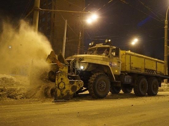 Уборкой снега в Ижевске занимаются 4 подрядчика