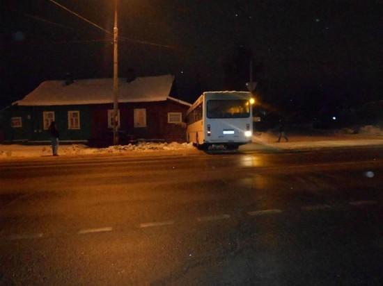 В Ярославской области водитель автобуса спасая собаку, врезался в дом