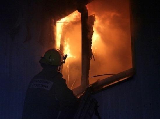 В Рославле Смоленской области дотла сгорел дачный дом