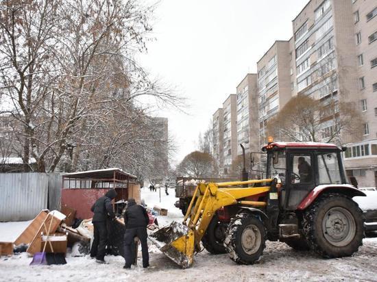 Вологодчину очистят от мусора до 14 января