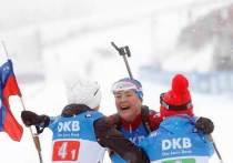 Российские биатлонисты завоевали два «золота» на этапе в Оберхофе