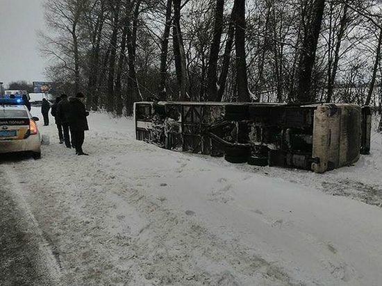 В Украине пострадали пассажиры при крушении автобуса Киев-Москва