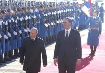 Вучич с ротой почетного караула встретил Путина в Белграде
