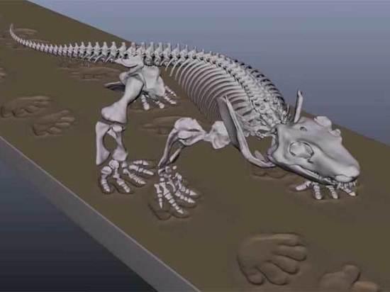 Европейские инженеры «оживили» скелет ящера, жившего 290 миллионов лет назад