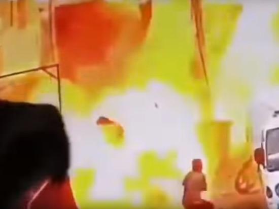 В сети появилась видеозапись теракта в Манбидже