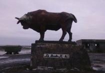 Памятник калмыцкому быку в Целинном районе будет отреставрирован