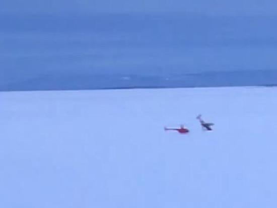 В Братске легкомоторный самолет врезался в лед