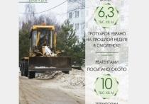 С улиц и площадей Смоленска вывезено 7 719 кубических метров снега