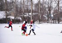 В футбол на снегу сыграли юные вологжане