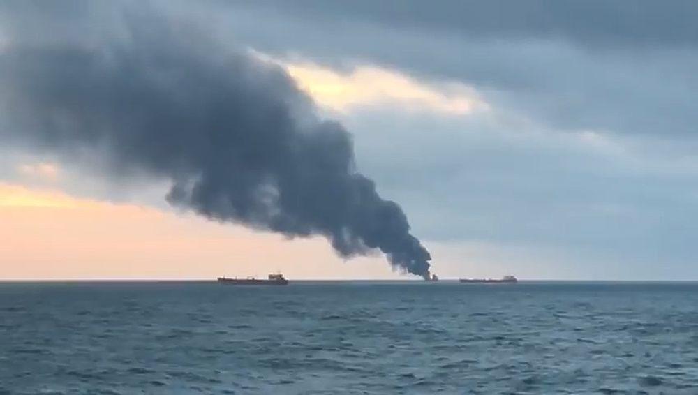 Как в Керченском проливе горели танкеры под флагом Танзании
