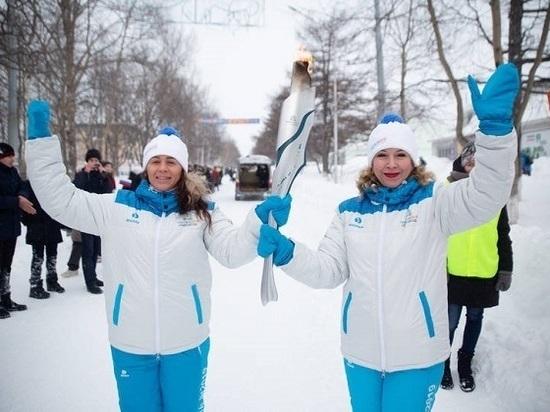 Эстафета огня зимних игр «Дети Азии» продолжается