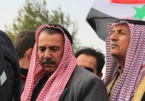Сирийские шейхи на митинге попросили Россию восстановить разрушенный США мост