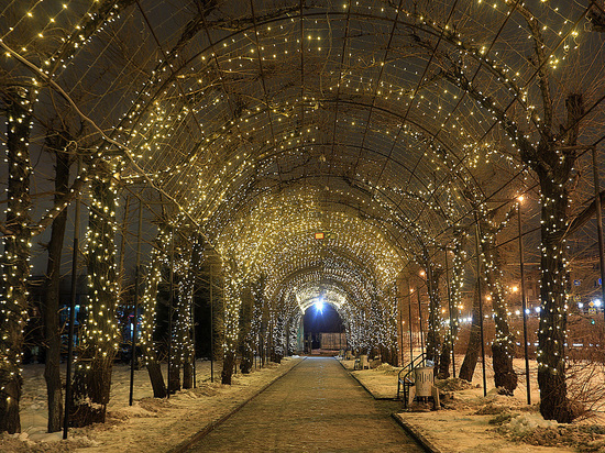Еще на двух улицах Красноярска появится праздничная подсветка