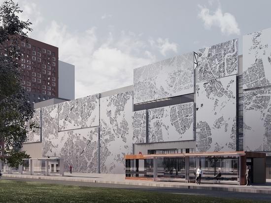 Здание в ТПУ «Рассказовка» украсят картой Москвы