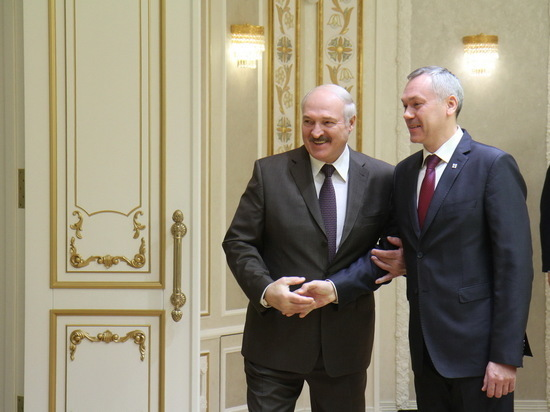 Новосибирский губернатор встретился с президентом Беларуси Лукашенко