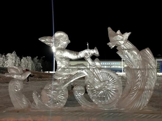 Рязанец победил в конкурсе ледовых скульптур «Бешеная пила»
