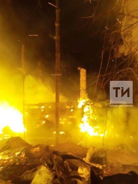 Несколько дачных домов сгорело при пожаре в Зеленодольском районе РТ