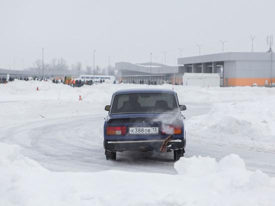 В Саранске прошли соревнования по зимнему дрифту