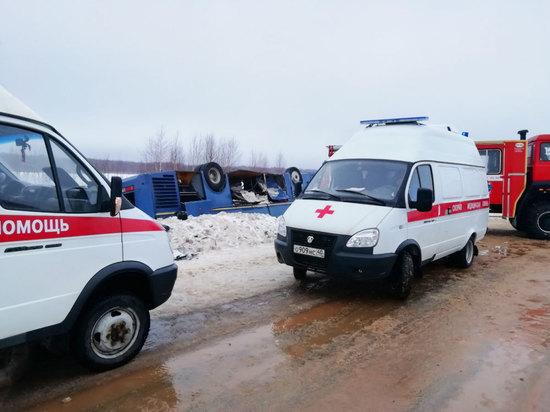 В больницах остается 13 человек из перевернувшегося под Калугой автобуса