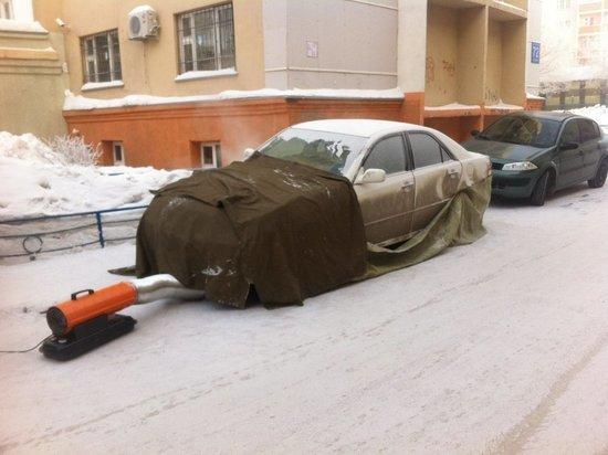 Спрос на отогрев авто в Новосибирске вырос почти в 10 раз