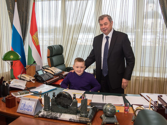 Юному жителю Обнинска выпала возможность почувствовать себя губернатором