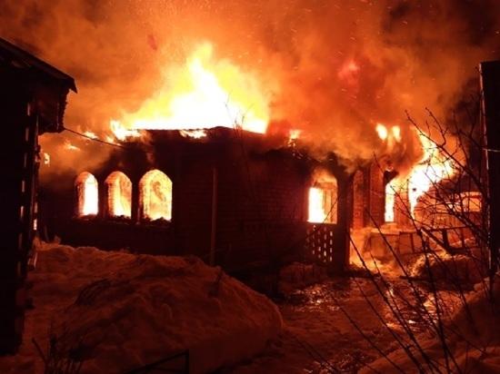 Человек пострадал в пожаре дома в Товарково