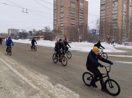 Более 200 человек приняли участие в зимнем велопараде Ижевска