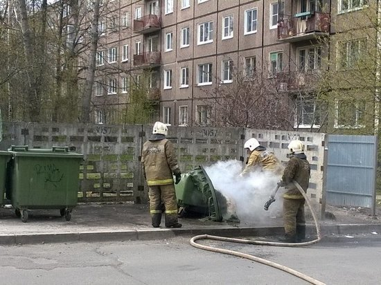 В Калининграде снова тушили мусор