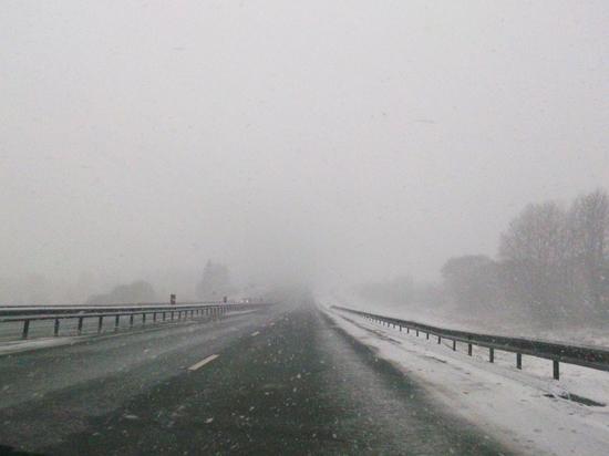 В понедельник на Смоленщине мокрый снег и туман