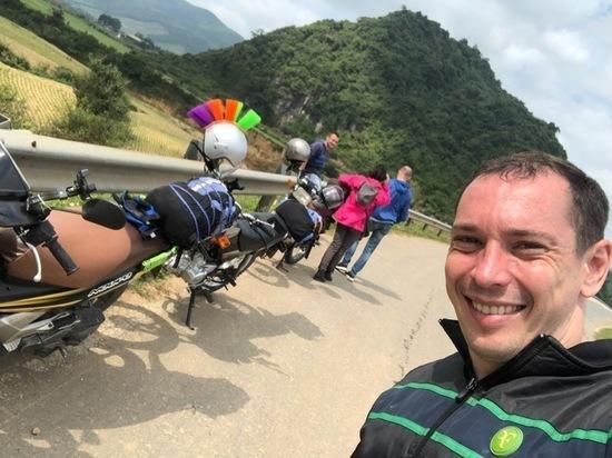 Калужанин на мотоцикле путешествует по Вьетнаму