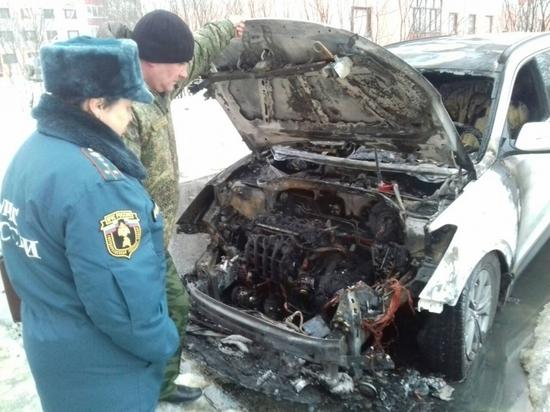 Автомобиль сгорел в Новом городке