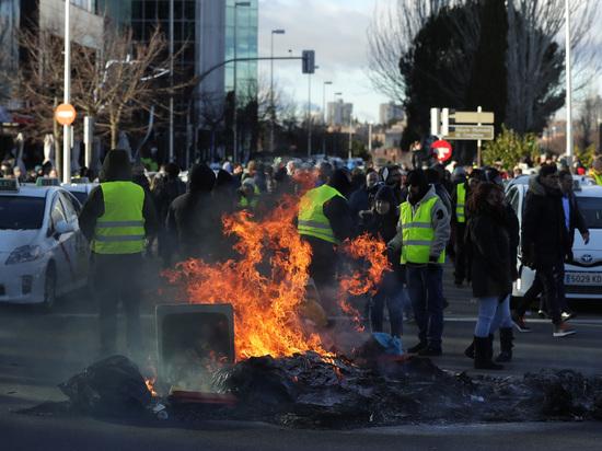 Массовые протесты в Мадриде: «желтые жилеты» добрались до Испании