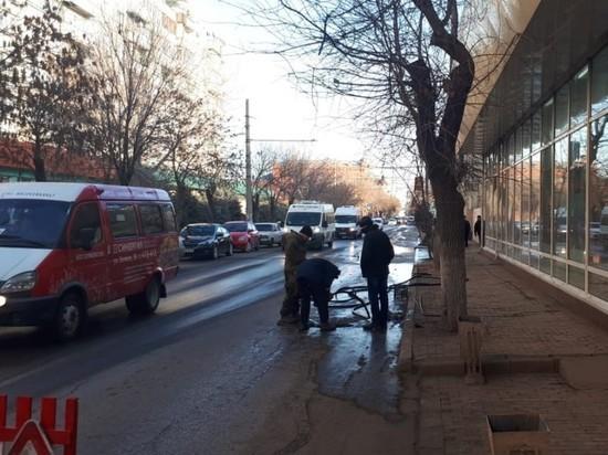 В центре Астрахани прорвало канализацию