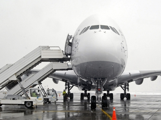 В аэропорту Барнаула пять человек упали трапа самолета получили травмы